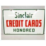 14 1/2X23 1955 PORC SINCLAIR CARDS SIGN