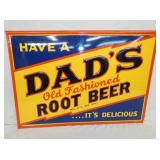 19X27 EMB. DADS ROOT BEER SIGN