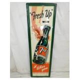 17X55 EMB. VERTICAL 7UP SIGN