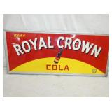 23X52 1941 EMB. ROYAL CROWN COLA SIGN