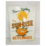 20X22 SUN-RISE BEV. TIN SIGN
