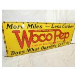 VIEW 2 CLOSSEUP PORC. WOCO PEP SIGN
