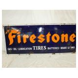 30X72 PORC FIRESTONE TIRES SIGN