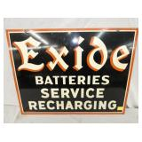 20X26 1949 EXIDE BATTERIES SIGN