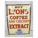 29X40 PORC. LYONS COFFEE EXTRACT SIGN