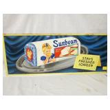 12X30 1957 SUNBEAM BREAD EMB. SIGN