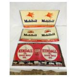 9 1/2X20 MOBIL OIL/KENDALL OIL CAN SIGN