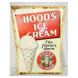 20X28 EMB. HOODS ICE CREAM SIGN