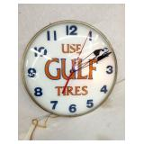 VIEW 2 CLOSEUP USE GULF TIRES CLOCK