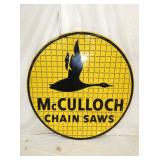 48IN MCCULLOCH CHAIN SAWS SIGN