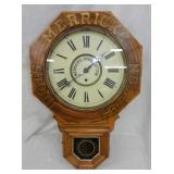 17X26 MERRICKS SPOOL COTTON CLOCK