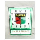 15X18 OLIVER NEON CLOCK