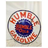 42IN PORC HUMBLE GASOLINE SIGN