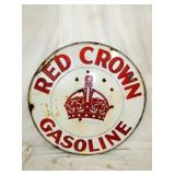 42IN RED CROWN GASOLINE PORC SIGN