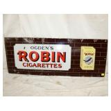 18X48 PORC. ROBIN CIGARETTES SIGN