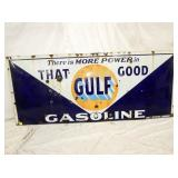 30X72 PORC. GULF GASOLINE SIGN