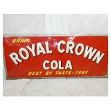 40X49 1952 EMB. ROYAL CROWN COLA SIGN