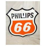 48IN PORC. PHILLIPS 66 SHIELD SIGN