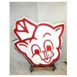 70X75 EARLY LIGHTED PIGGLY WIGGLY SIGN