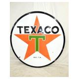 6FT. PORC .TEXACO SIGN
