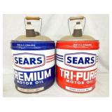5G. SEARS MOTOR OIL CANS