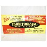 16X36 NOS EMB. VULCAN FARM TOOLS SIGN