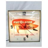 PUROLATORS FILTERS PAM CLOCK