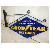 20X36 PORC. GOODYEAR BATTERIES SIGN