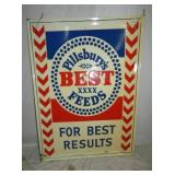 29X39 EMB. PILLSBURYS FEEDS SIGN
