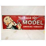 11X34 PORC. MODEL TOBACCO SIGN