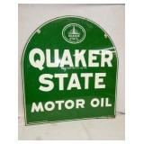 27X29 1968 QUAKER STATE SIDEWALK SIGN