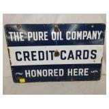 14X22 PORC PURE CREDIT CARDS SIGN