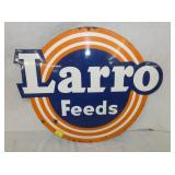 1`7 1/2X21 LARRO FEEDS SIGN