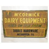 15X23 EMB. MCCORMICK DAIRY EQUIPMENT