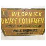 VIEW 2 CLOSEUP MCCORMICK DAIRY SIGN