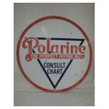 42IN PORC. POLARINE MOTOR OIL SIGN