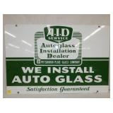 24X36 AID AUTOGLASS PORC. SIGN