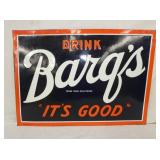 20X28 EMB. BARQS DRINK SIGN