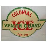 VIEW 2 COLONIAL ICE SIGN