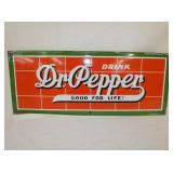 11X27 PORC DR. PEPPER SIGN