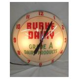 16IN DOUBLE BUBBLE BURKE DAIRY CLOCK