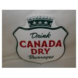 13 1/2X14 1/2 CANADA DRY SIGN
