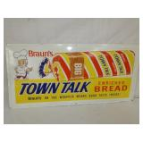 16X33 1967 BRAUNS BREAD SIGN