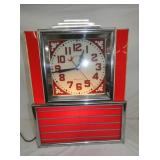 18X24 AMERICAN DECO LIGHTED CLOCK