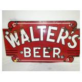 23X43 PORC. WALTERS BEER SIGN