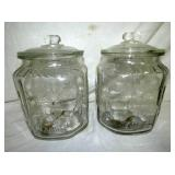 PLANTER PEANUT JARS W/ GLASS LIDS