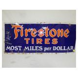 20X48 PORC.FIRESTONE TIRES MILES SIGN
