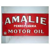 34X70 EMB. AMALIE MOTOR OIL SIGN