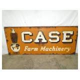 30X72 EARLY EMB. CASE FARM MACHINERY SIGN