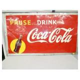 32X56 1949 PAUSE DRINK COKE SIGN